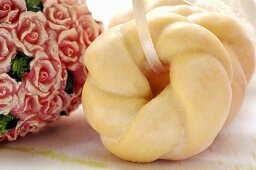 Delicate sweet pastry rings for Valentine's Day
