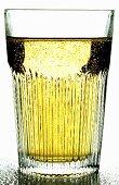 Apple schorle (apple juice & mineral water) in glass
