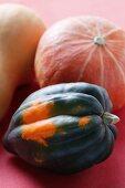 Three different pumpkins