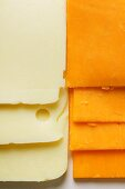 Cheese slices: American cheese and Extra Sharp Cheddar