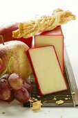 Classic Vermont Cheddar with fruit and cheese biscuits