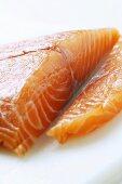 Fresh salmon fillet for sushi