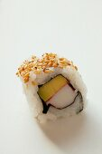 Inside-out roll with avocado