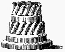 Baking tin for ring cake (Illustration)
