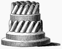 Baking tin for ring cake (Illustration)