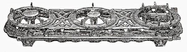 Old gas stove (Illustration)