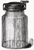 Old food tin (Illustration)