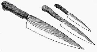 Various knives (Illustration)