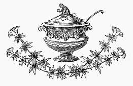 Festive soup tureen (Illustration)