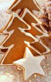 Gingerbread fir trees and cinnamon star