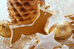 Gingerbread reindeer and cinnamon stars