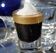 An espresso macchiato