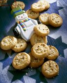 Tyrolean aniseed cookies with pearl sugar & snowman figure