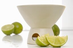 Aroma lamp with limes