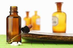 Schüssler Salts: tablets, dropper and small bottles
