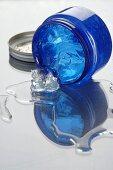 Gel in blue jar