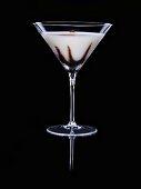 Cream cocktail with chocolate and nutmeg