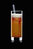 Zombie (Cocktail made with rum, fruit juices, ice cubes)