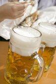 Litres of beer & Steckerlfisch (fish on stick, Oktoberfest, Munich)