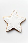 Gingerbread star with white icing