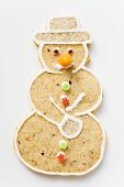 Spiced pastry snowman