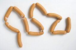 String of fresh frankfurters