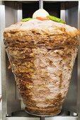 Döner kebab on spit