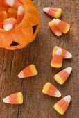 Candy corn (Halloween sweets, USA)
