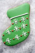 Christmas biscuit (green boot)