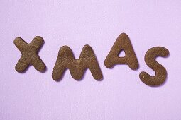 Letter biscuits (spelling the word XMAS)