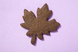 Biscuit in the shape of a maple leaf