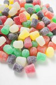 Coloured sugar-coated jelly sweets