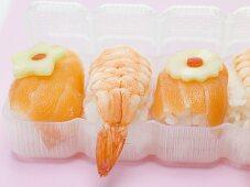 Sushi to take away (close-up)