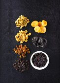Various types of dried fruit