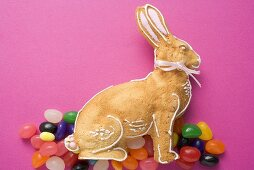 Baked Easter Bunny and jelly beans