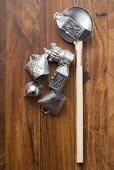 Utensils for Bleigiessen (lead pouring, a German New Year custom)