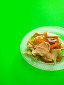 Cod and pepper salad