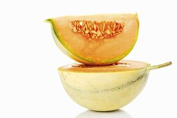 Cavaillon melon, half and a wedge