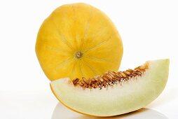 Honeydew melons, close-up