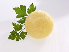 Potato dumpling with parsley