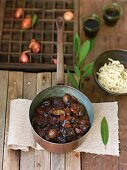 Braised wild boar ragout with dried plums