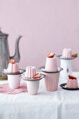 Frozen strawberry cakes