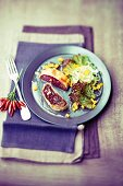 Beetroot strudel with figs