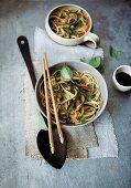 Oriental vegetable noodles