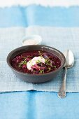 Beetroot and red onion soup