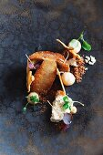 Porcini mushroom and nut crumble at the Agape Substance restaurant, Paris