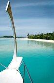 View of Velighandu Huraa from boat, Maldives
