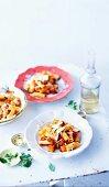 Rigatoni with tomato sauce and Parmesan