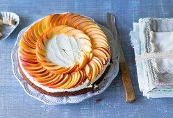 Nectarine cake with mascarpone