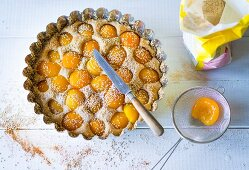 Baking with stevia: wholemeal apricot cake